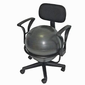 Ball Chair Metal Mobile With Stabilzer Arm 18 Exercise Ball Desk Yoga Balance