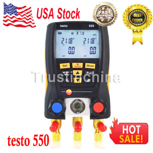 Testo 550 Refrigeration Digital Manifold Kit 0563 1550 With 2pcs Clamp Probes Us