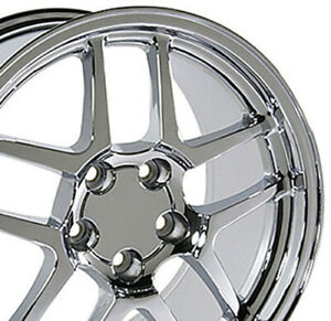 17x9 5 Wheels Fit Camaro Corvette C5 Z06 Chrome Rims 5146 W1x Set