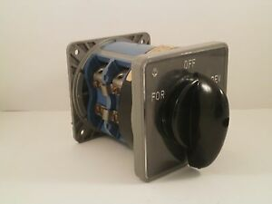 Kraus Naimer 3 Position Rotary Switch C205 200amps 600vac