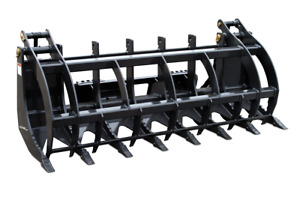 Log Brush And Rock Grapple Skid Steer Loader Attachment