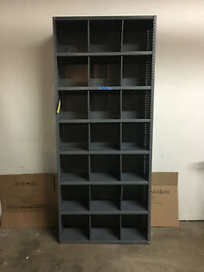 85 Tall Metal Shelf With 7 Rows 21 Possible Cubicles Buying 1 3 Available
