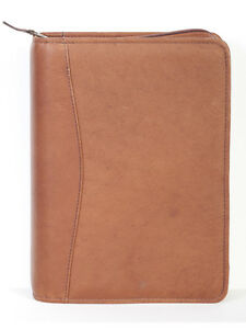 Scully Leather 5045z Tan Zippered Planner