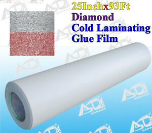 0 69x31yard Diamond Cold Laminating Film Laminate For Posters Maps Signs Photos