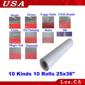 Cold Laminating Film 10 Rolls 10 Kinds 3mil 0 69x1yard For Laminator Posters