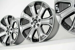2018 Chevy Silverado Tahoe Wheels Rims Ck164 Ck190 Chrome Black Inserts 2017 Gmc