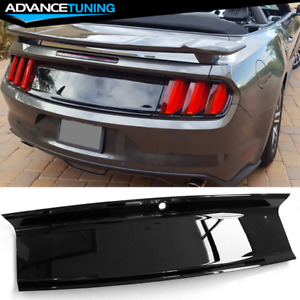 Fits 15 18 Ford Mustang Trunk Decklid Cover Panel Glossy Black Abs
