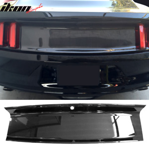 Fits 15 18 Mustang Rear Trunk Decklid Cover Panel Carbon Fiber Look Abs