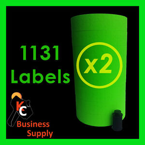 1131 Green Labels For Monarch 1131 Price Gun 16 Rolls ink Included Made In Usa