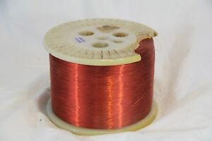 34 Awg Gauge Magnet Wire 79000 ft Red Coat Copper Coil Winding 10 6lbs Huge