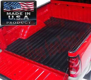 Skid Rubber Bed Mat 2007 2018 Silverado 1500 Cargo Liner Fleetside Box Protector