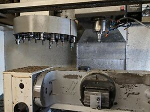 Haas Vf6 With 5th Axix Trunnion Table