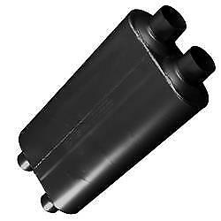 Flowmaster 527504 Muffler 50 Series Bb Dual 2 3 4in Inlet Dual 2 1 2in Outlet