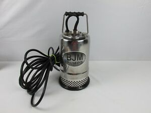 Bjm Submersible Pump R Series Model R250 115v 1 3hp 4 Amp Phase 1 Works Great