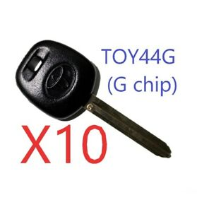 X10 Toyota Scion Toy44g 2010 2016 G chip Transponder Key Top Quality Usa Seller