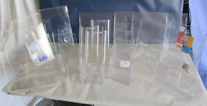 Variety Desk Wall Lot Of 17 Clear Acrylic Display Brochure Literature Holders