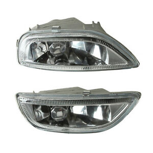 Pair Front Bumper Glass Fog Lights Lamps L R For Toyota Corolla 2001 2002 01 02