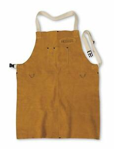 Split Cowhide Leather Welding Apron Reinforced Snaps Durable One Size Fits Most