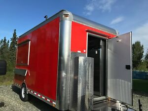 Brand New 14 Fully Equipped Red Food Trailer