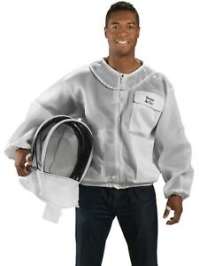 Bees Co K84 Ultralight Beekeeper Jacket With Fencing Veil large
