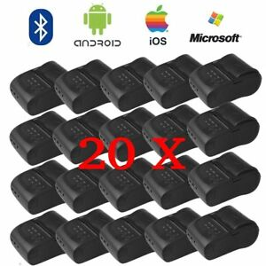 20pack 58mm Bluetooth Wireless Pocket Mobile Thermal Receipt Printer For Android