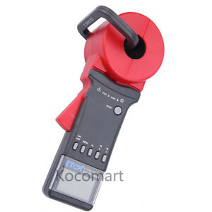 Etcr2100a 32mm Digital Clamp On Ground Earth Resistance Tester Meter