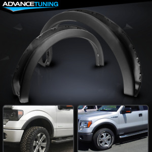 Fits 09 14 Ford F150 Oe Factory Style Fender Flares 4pc Set Black Pp