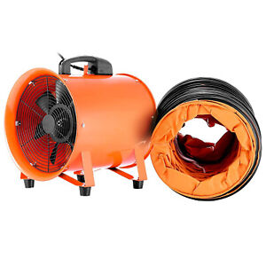10 Industrial Extractor Fan Blower W Duct Hose Electrical Garage Ventilation