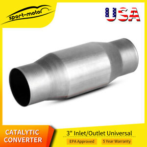 3 Inch Universal Catalytic Cat Converter High Flow Epa Obd Ii Emission Standard