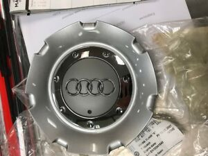 New Genuine Oem Audi A4 S4 B7 2005 2009 Wheel Center Hub Cap Diamond Silver