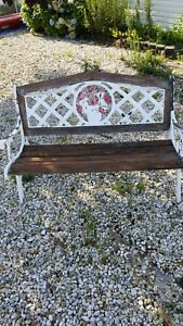 Antique Cast Iron Bench Foundry Architectural Salvage