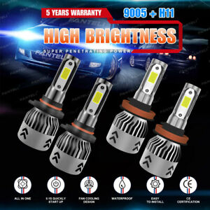 9005 H11 3020w 453000lm Combo Cree Led Headlight Kit High Low Beam Bulbs 6000k