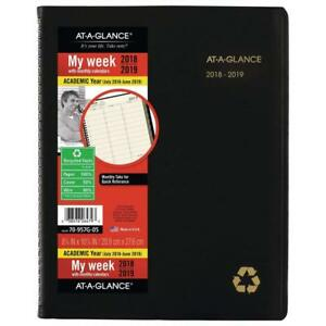 At a glance 2018 2019 Academic Year Weekly Monthly Planner appointment
