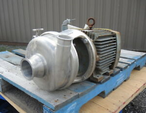 3 X 2 Inlet Outlet Centrifugal Pump Stainless Steel Sanitary