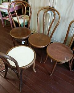 Set Of Eight Bentwood Chairs 1938 Great Northern Chair Co Chicago