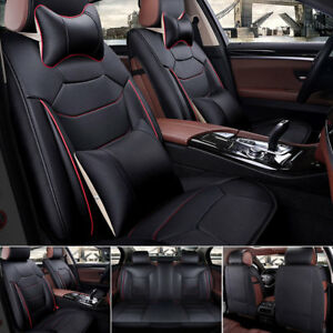 Us L Size 100 Mircrofiber Leather Seat Cover 5 seat Car Suv Front rear W pillow