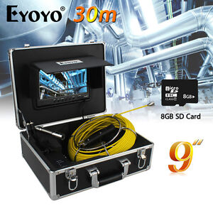 9 30m 23mm Sewer Camera Pipeline Drain Video Inspection Dvr W sd Card 1000tvl
