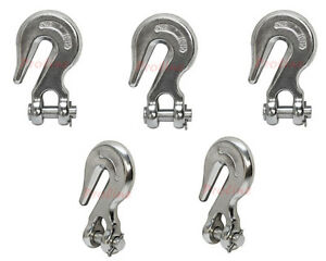 5 Pc 1 4 Marine Stainless Steel 316 Clevis Grab Hook Towing Shackle 2 600 Lbs
