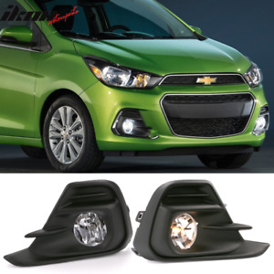 Fits 16 18 Chevrolet Spark Oe Style Foglights Kit Abs Black Housing Clear Lens