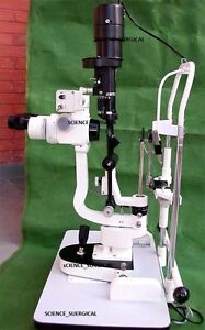 2 X Slit Lamp With Camera In 5 Step medical ophthalmology Equipments Mars13