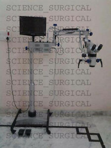 Dental Operating Microscope With Beam Splitter Ccd Camera Led Monitor