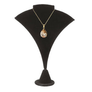 Fan shaped Black Velvet Earring necklace Display Stand 7 1 2 Case Of 25