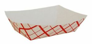 Southern Champion Tray 0425 300 Southland Red Check Paperboard Food Tray Boat
