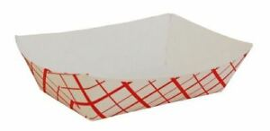 Southern Champion Tray 0417 200 Southland Red Check Paperboard Food Tray Boat