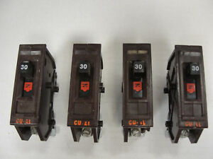 4 Wadsworth Type A 30 Amp Circuit Breakers