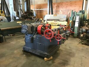 Landis Threader Bolt And Pipe 2 1 2 With Lanco 20r Heads Threading Machine