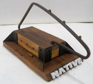 Native Sunglasses Wooden Metal Stand 3 Holder Store Retail Display Rack