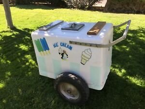 Vintage Ice Cream Cart push Cart