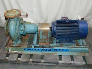 20 Hp Marathon Electric Motor With 600 Gpm Taco Pump 4 With 9 Impeller