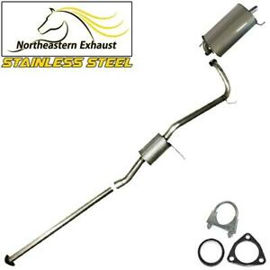 Direct Fit Stainless Steel Exhaust System Kit Fits 98 02 Honda Accord 2 3l Sedan